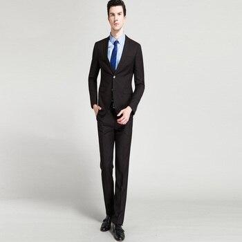 Black Business Suit Slim Fit for Men Groom Wedding Suits Prom Party Suits 2 Pieces (Jacket+Pants ) Blazer Suit Men Costume Homme