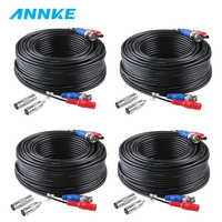 SANNCE 4pcs 100ft 30M Security Camera Video Power Cable Cord BNC RCA Wire for CCTV Camera DVR Surveillance System Accessories