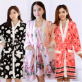 17 styles New Autumn/Winter flannel Bathrobe sleepwear sets warm thickening Long sleeve Nightgowns (Bathrobes + Sling skirt)