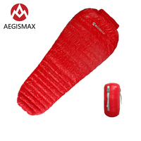 AEGISMAX Sleeping Bag New MINI Upgrade Nano Series Outdoor Camping Ultralight Goose Mummy Down Sleeping Bag Spring Autumn Adult