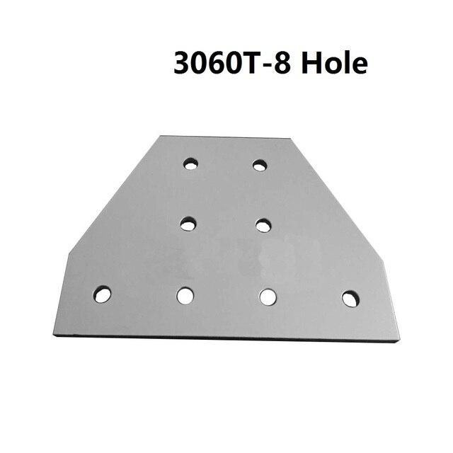 5ピース3060 30 × 60で8穴tタイプ90度ジョイントボードプレートコーナー角ブラケット接続ジョイント用アルミプロファイル