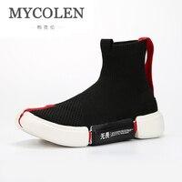 MYCOLEN/модная мужская обувь с высоким берцем, удобная мужская повседневная обувь из сетчатого материала на осень зиму, мужская обувь zapatillas Hombre