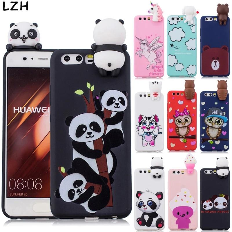 Cute Cartoon Panda Soft TPU Case for Huawei P9 Lite/P10 Lite/P10 ...