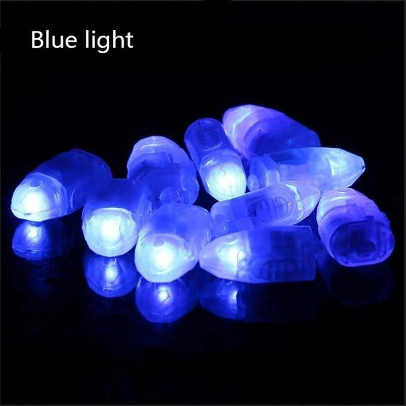 10 Pcs LED Bullet Lamp Lights Switched Light-emitting Balloon Lamp Flash LED Balloon Light Flash Balloon Night Lights