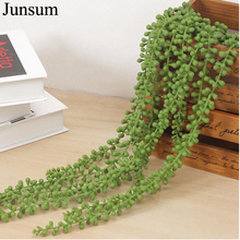 76CM Home Decor Wall Plant Artificial Flower String PU Hanging Succulents Wedding Hotel Accessories 2 Pieces/ Lot