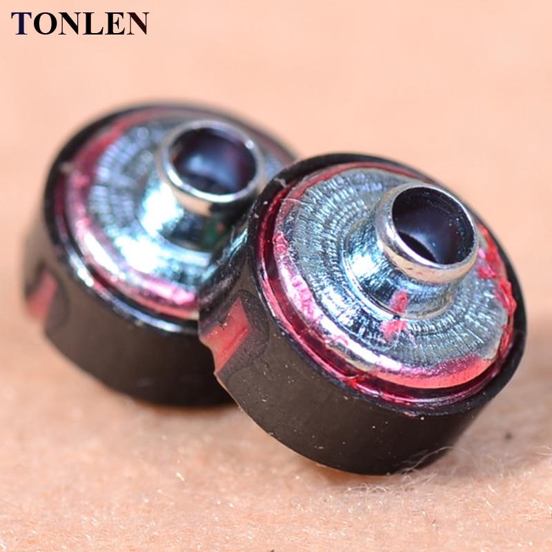 TONLEN 10pcs 8mm Earphone Speaker unit 16 ohm Headphone Accessories Replace Repair New HIFI subwoofer Earphone Speaker unit