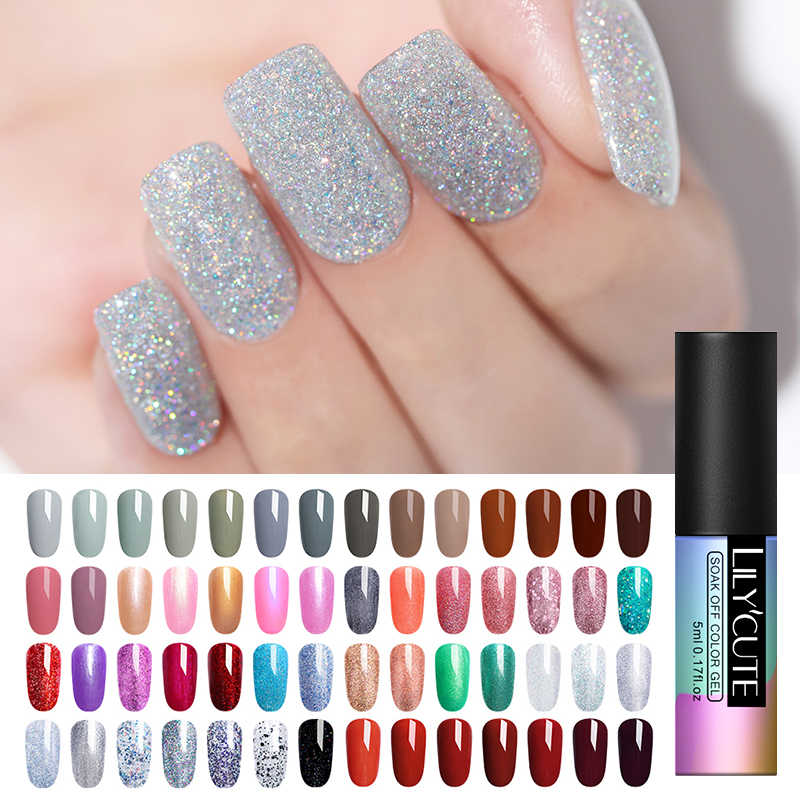 LILYCUTE Nail Gel Nagellak Gel Polish Semi Permanente UV Emaille Hybrid Nagels Art Design Off Gel Vernis Witte Manicure gel