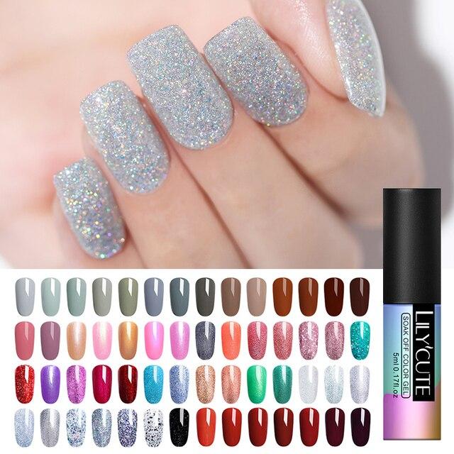 LILYCUTE Unhas de Gel Unha Polonês Gel Polonês Semi Permanente UV Esmalte Nails Art Design Híbrido Off Verniz Gel Manicure Branco gel