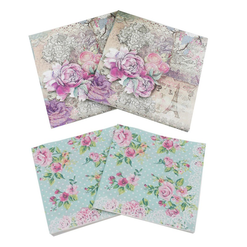 20 x Paper Napkins for Table Party and Decoupage Daisy Flowers 23