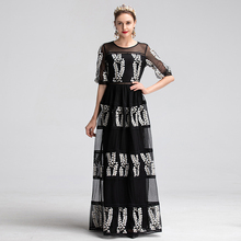 Dress Embroidery Women's Gauze
