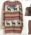 Boreal Europa sentimientos amorosos de Navidad cervatillo lana crece suéter de cuello redondo suéter nuevo