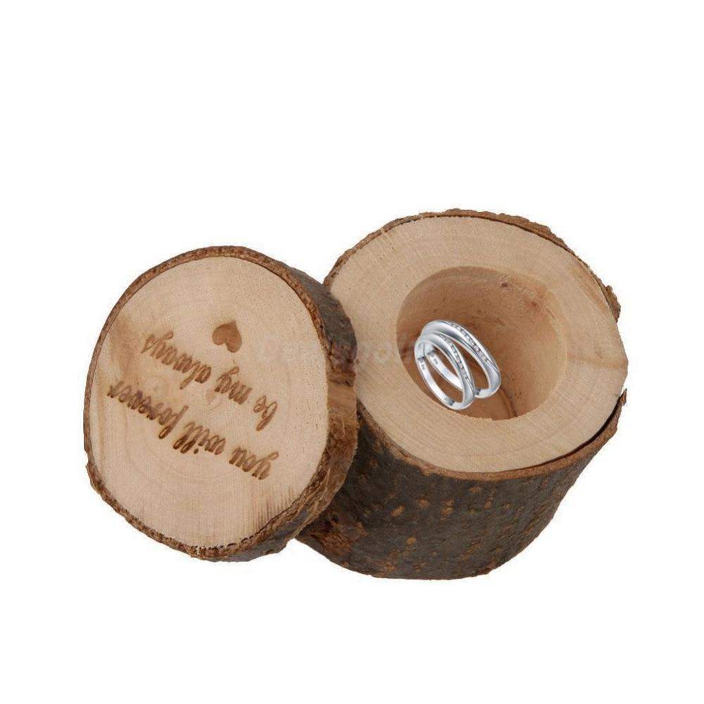 Wooden Wedding Ring Box Creative Wedding Ring Box Country Retro Style Box  Wedding Accessoreis(china