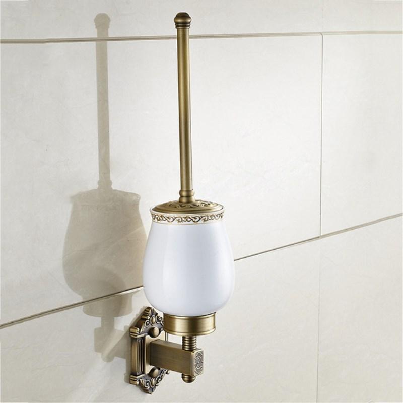 Toilet Brush Holders Antique Brass Wall Mount Brush Holder