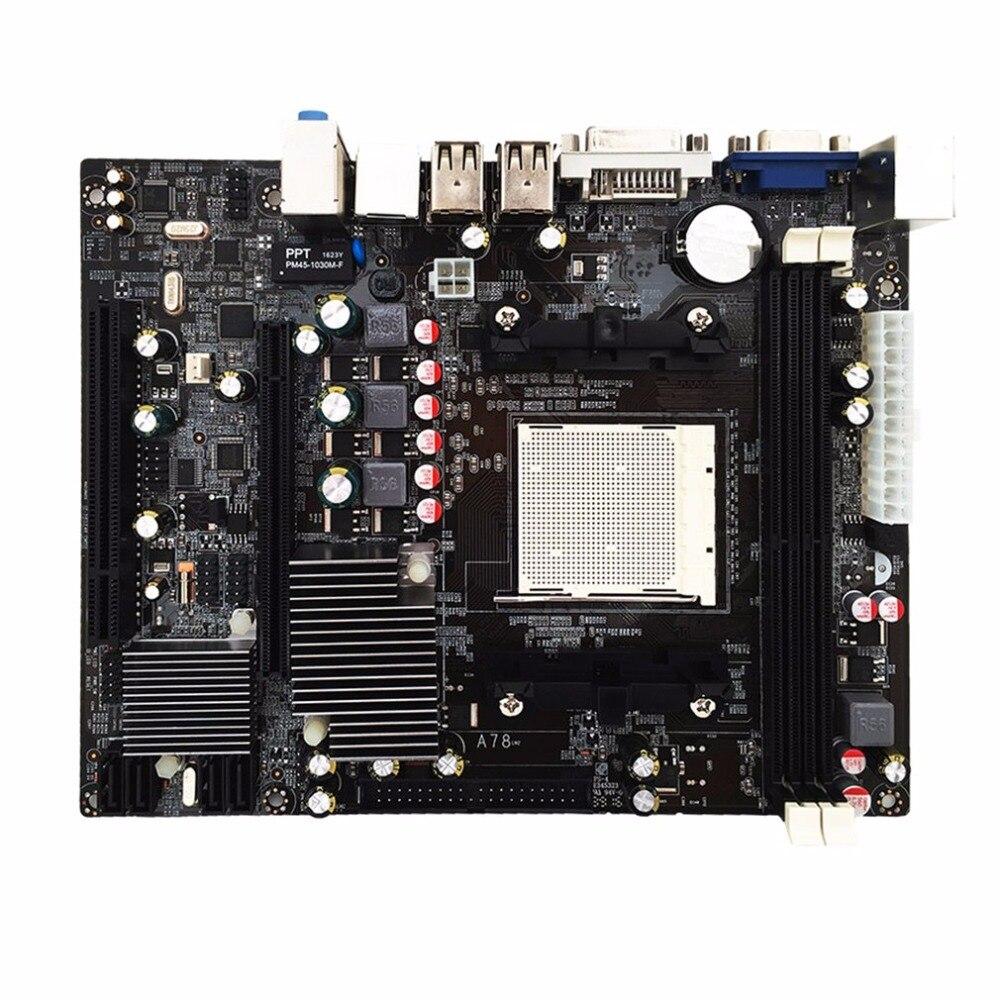 A780 Carte Mère 780G Support de la Carte Mère DDR3 Mémoire Double Canal AM3 CPU 16G Mémoire De Stockage ordinateur de bureau 2x DDR3 Dimm slot