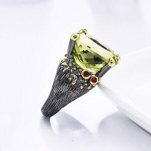 Image 5 - 2020 חדש יפה גדול סגלגל ירוק קריסטל טבעת טרנדי תכשיטי Dropshipping תכשיטי באיכות גבוהה עבור נשים