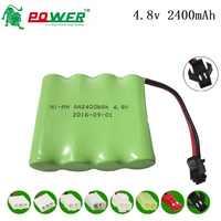 4,8 v akku Packs 4,8 V 2400 mAh für RC spielzeug elektrische beleuchtung sicherheit AA NI-MH batterie für Fernbedienung control SPIELZEUG autos