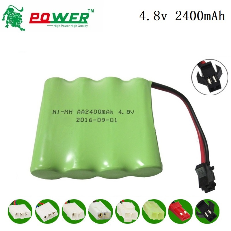 4.8v Rechargeable Battery Packs 4.8V 2400mAh For RC Toy Electric Lighting Security AA NI-MH Battery For Remote Control TOYS Cars