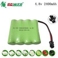A bateria recarregável de 4.8v embala 4.8v 2400 mah para a segurança elétrica da iluminação do brinquedo de rc aa ni-mh bateria para carros dos brinquedos do controle remoto