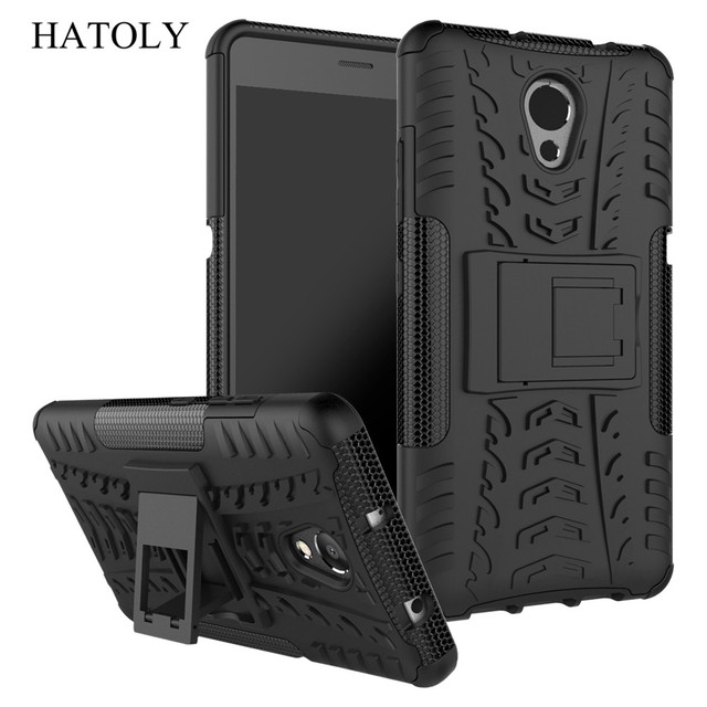 """Hatoly Voor Cover Lenovo P2 Case Lenovo P2 P2c72 5.5 """"Armor Silicone Hard Plastic Case Voor Lenovo Vibe P2 met Houder Stand]"""