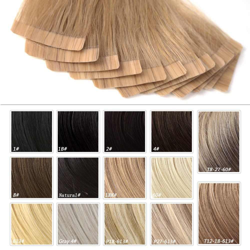 "Neitsi Straight Machine Remy Human Hair Tape In Extensions 12 ""16"" 20 ""24"" Dubbele Side Naadloze lijm Huid Inslag Haar"