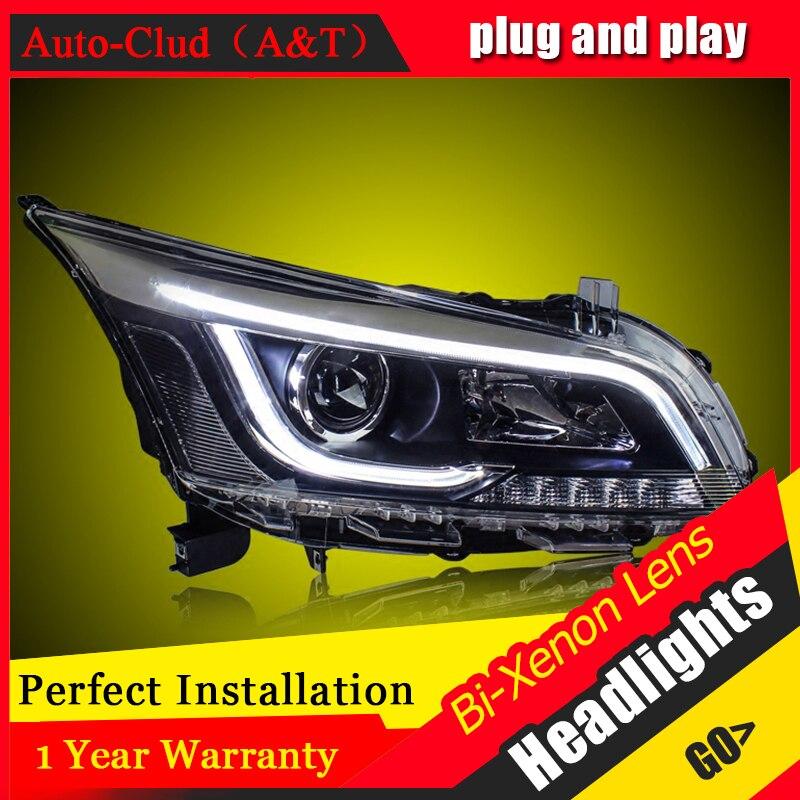Car Styling Head Lamp case for Toyota Prado 2014 LED Headlights DRL Daytime Running Light Bi-Xenon HID Accessories