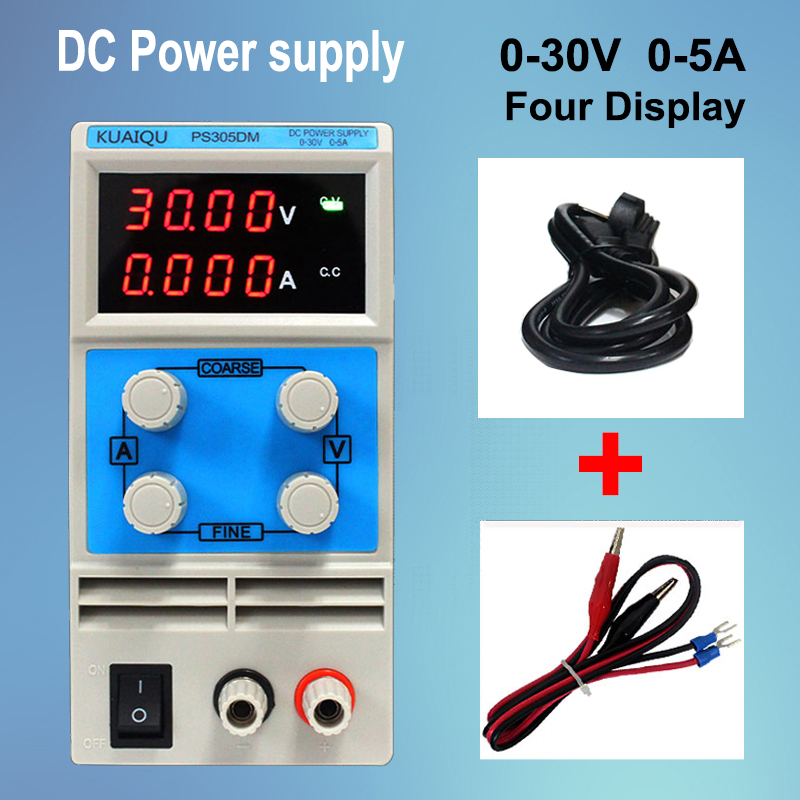 Single Set Of Output High Precision Digital Four Display Power Supply 0-30V 5A Portable Adjustable Stable DC Power Supply rps6005c 2 dc power supply 4 digital display high precision dc voltage supply 60v 5a linear power supply maintenance