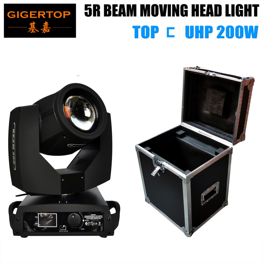 China 1in1 Flight Case Packing Disco Club 5R Moving Head Spot Light TP 5R Sharpy Beam 200W Moving Head Black House Phase Motor