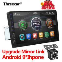 One Din Multimedia Player car radio with rear camera 9 inch Autoradio Car MP5 Mirrorlink iPhone Andriod 9 Bluetooth 2din stereo