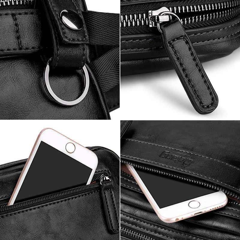 LIELANG Cintura Saco Pacote de Saco De Peito De Couro Dos Homens Bolsa de Ombro Sacos para Corpos Transversais Masculino Sacos de Alta Qualidade PU Cinto Para meninos moda