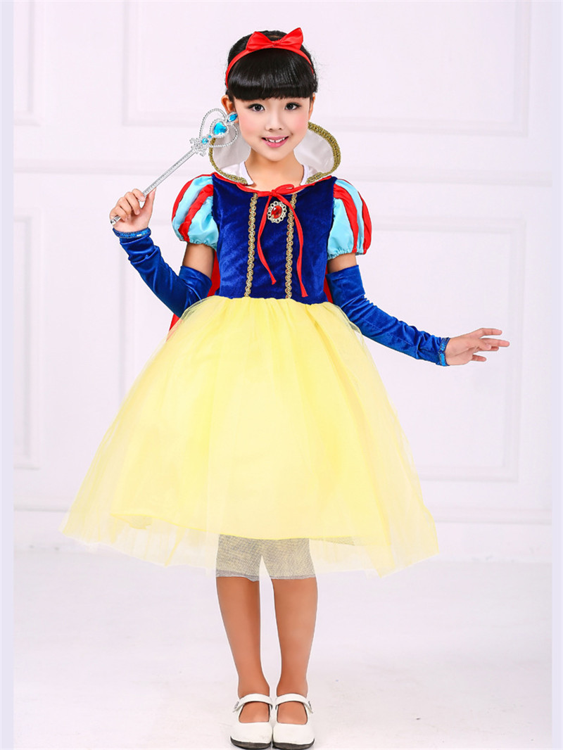Halloween Snow White Princess Costume Cosplay Party Dress Summer Girl's Clothing Evening  Formal Dress