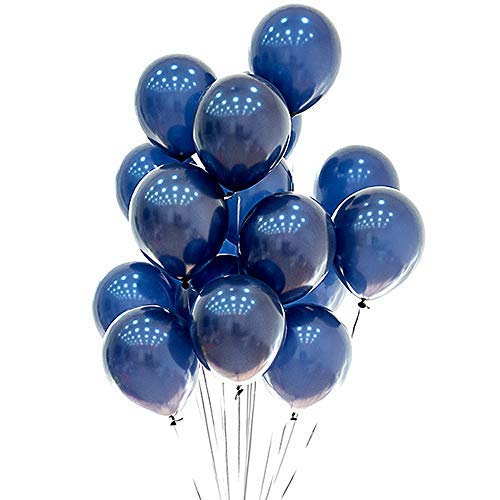 METABLE 100 pcs 12inch Latex Blue Balloons Birthday Helium Party Decoration Compatible Wedding