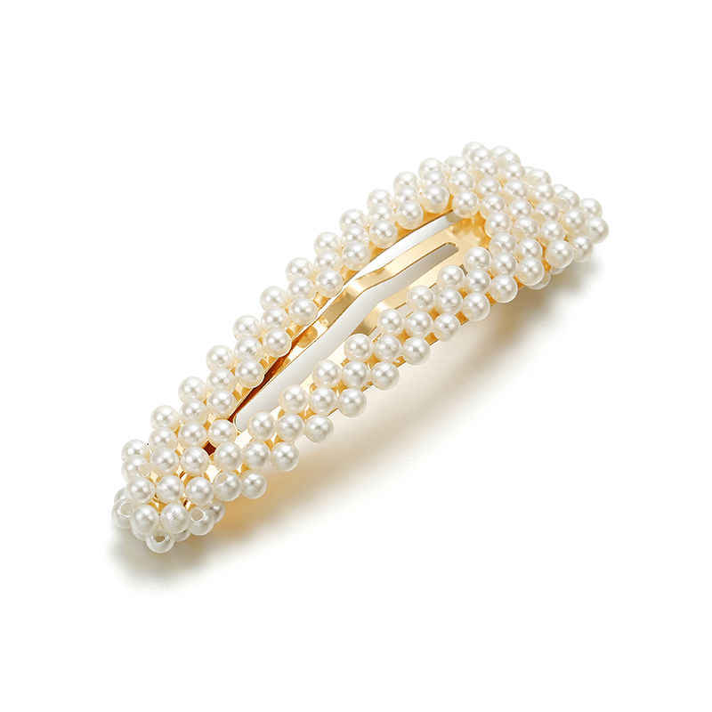 2019 Korean Style New Fashion imitate Pearl Hair Clip Barrettes for Women Girls Handmade Pearl Flowers Hairpins Hair Accessories