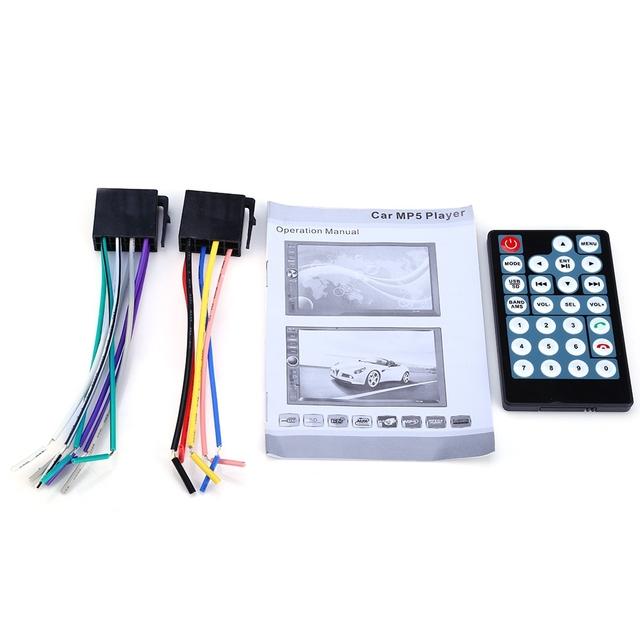 7 Inch Car Stereo MP5 Player 7012B Bluetooth V2.0 Car Multimedia Player Support TF MMC USB FM Radio With Rear Camera