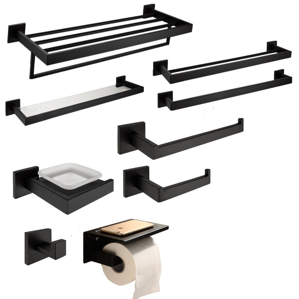 Stupendous Us 12 28 20 Off European Simple 304 Stainless Steel Bathroom Hardware Set Black Oiled Bronze Square Base Wall Mounted Soap Dish Bathroom Pendant In Squirreltailoven Fun Painted Chair Ideas Images Squirreltailovenorg