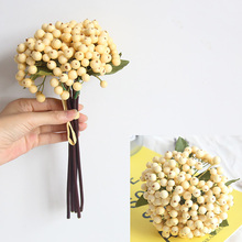 28cm Simulation Bean Branch Plant Home Garden Decoration  Party Wedding Decor Artificial Plastic Berry Flower Fake Floral
