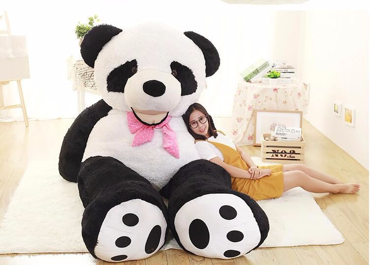 260 cm panda SKIN Stuffed toys for girl friend 102inch unfilled Plush panda reborn dolls stuffed animals doll for  Kids soft toy fancytrader new style giant plush stuffed kids toys lovely rubber duck 39 100cm yellow rubber duck free shipping ft90122