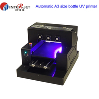 2018 Update 3D Inkjet Cylinder Bottle PVC card etc A3 size UV Printer