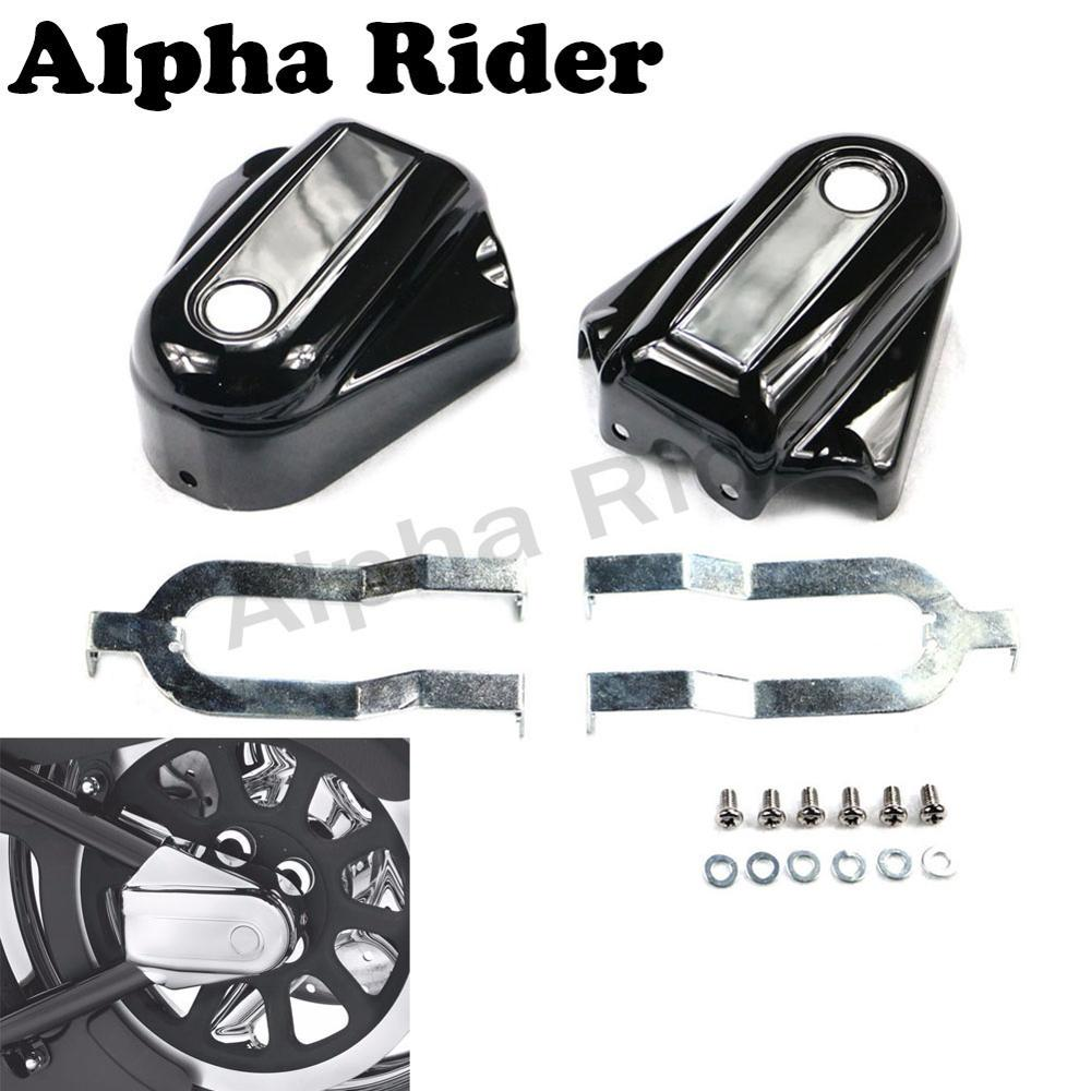 Abs Rear Axle Covers Guards For Harley Softail Cross Bones