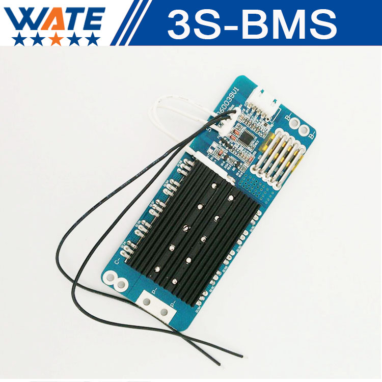 Free shipping 3S 50A Protection Circuit BMS PCM PCB Battery Protection Board For 11.1V Li-ion Battery BMS 4s 8a li ion lithium battery charger protection board 3 7v 14 8v 4 serial pcb charging protection module overcharging protection