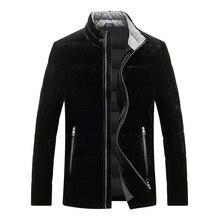 Nueva chaqueta de plumón de pato para hombre, chaqueta de plumón de terciopelo informal, ropa de plumas Ultra fina para hombre 8691