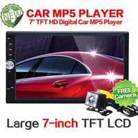 2 din car radio 7 HD Player MP5 MP4 MP3 Touch Screen Digital Display Bluetooth Multimedia USB 2din Autoradio Car Backup Monitor