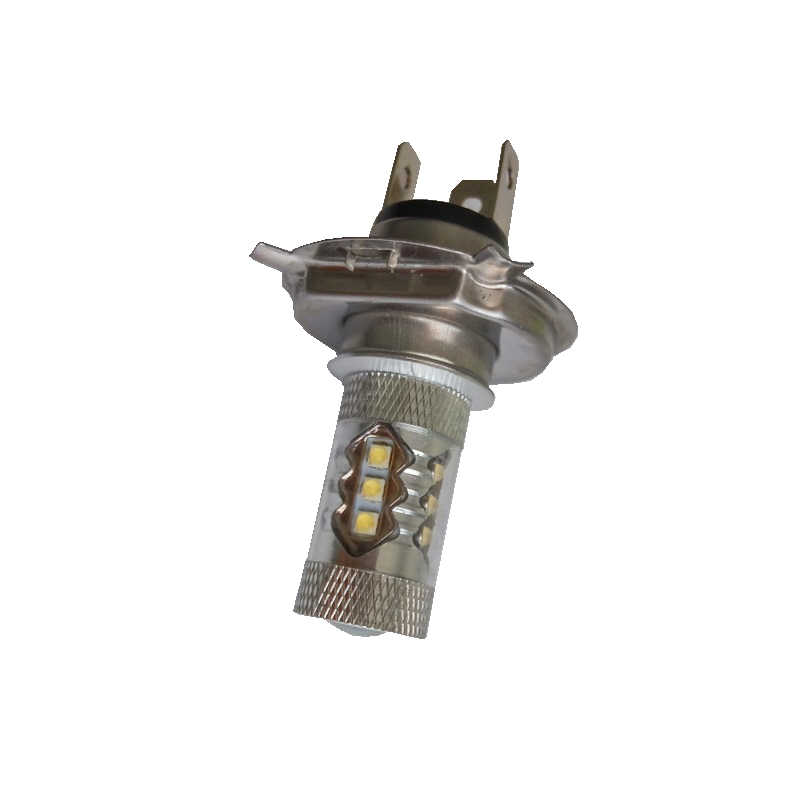A Pair Of H4 16Smd 80W 6500K -7000K Led Car Bulb Led Car Front Fog Lamp Head Light Lamp Dc12-24V - White Light