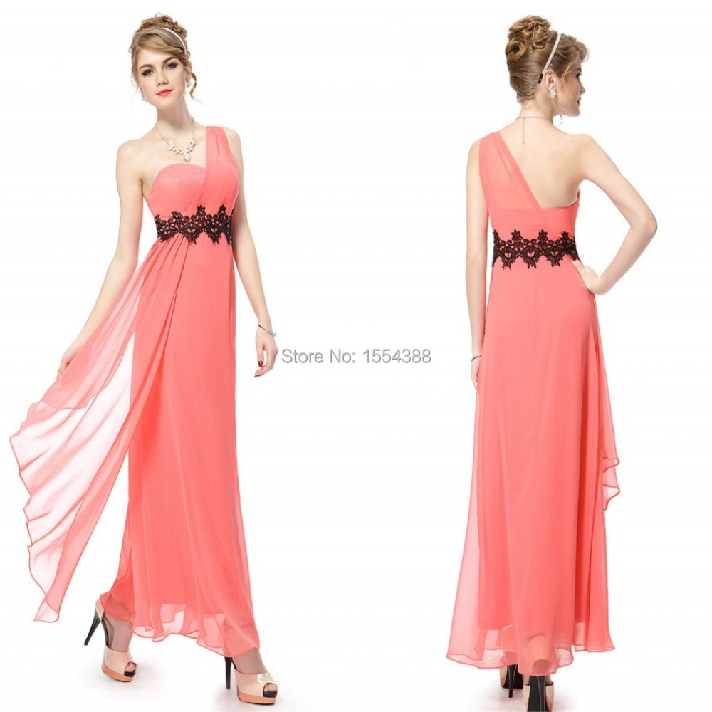 Buy cheap strapless floor length chiffon coral bridesmaid dress - 2016 Cheap Orange One Shoulder Applique Beads Ruched A Line Floor Length Chiffon Bridesmaid Dresses Formal Party Gowns