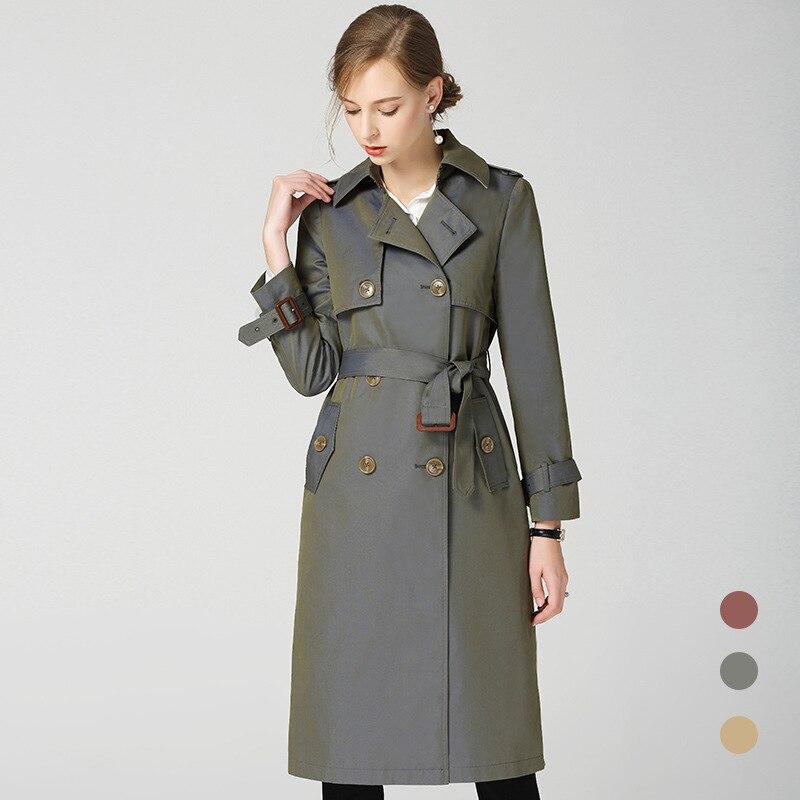 Brand New Women England style   trench   coat spring autumn runways double breasted Windbreaker coat Fashion women wind coat D222