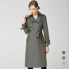Brand New Women England style trench coat spring autumn runways double breasted Windbreaker Fashion women wind D222