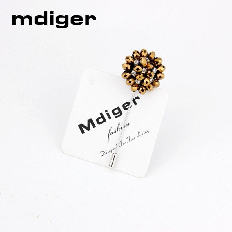 Mdiger Fashion Daisy Flower Lapel Pins Боялған Көктем - Сәндік зергерлік бұйымдар - фото 4