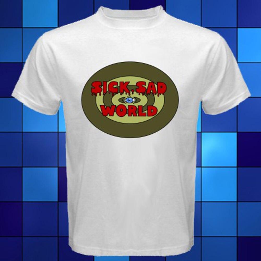 New Daria Sick Sad World White T-Shirt Size S M L XL 2XL 3XL Funny Short Sleeve Cotton T-Shirts T Shirt 100% Cotton