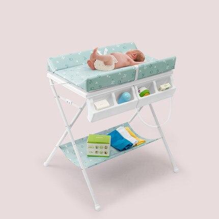 Bateau rapide! Table à langer bébé pliante douche nouveau-né bébé multi-fonction table de soins de lit portable