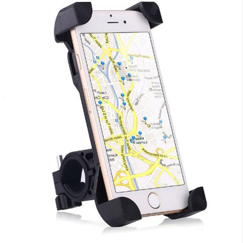 New Bicycle Bike Bag Bicycle Phone Holder Bracket Handlebar Durable Motorcycle Rotating 360 Degrees Phone Stand For Cellphone