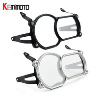 Motorcycle Headlight Guard Protector CNC Aluminum PC Lense With Bracket For BMW R1200GS LC 2013 2016